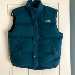 The North Face ✨ Green Puffer Down Vest
